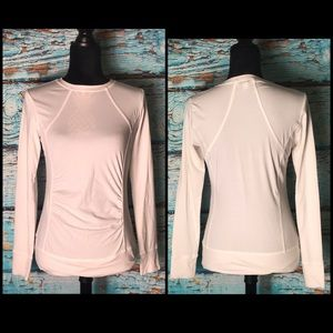 Cabi White Long Sleeve Top